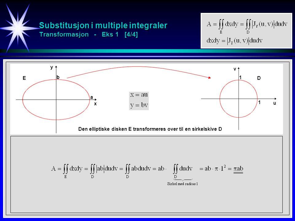 Substitusjon i multiple integraler Transformasjon - Eks 1 [4/4]